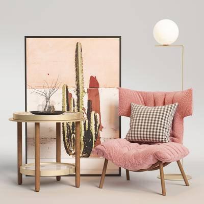 北欧单椅, 单椅, 桌椅组合, 单椅组合, 边几组合