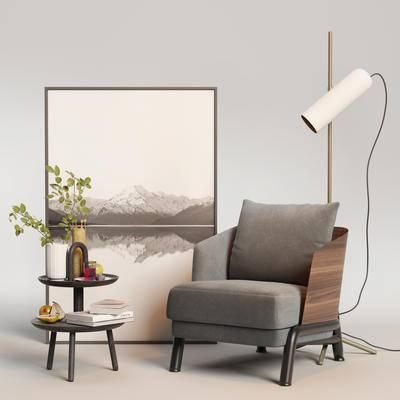单椅, 桌椅组合, 单椅组合, 边几组合, 现代单椅