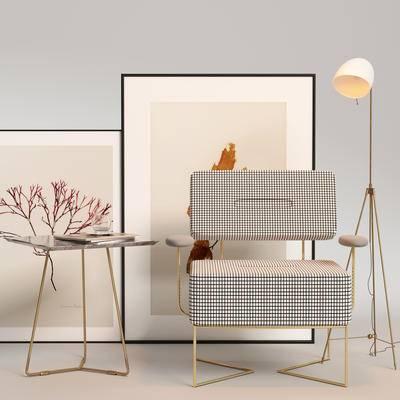 现代单椅, 单椅, 单椅组合, 桌椅组合, 边几组合