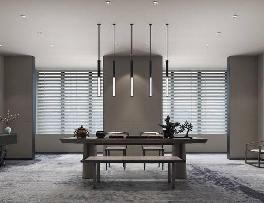 新中式, 茶室, 桌椅組合