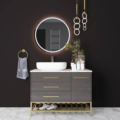 现代, 摆件组合, 卫浴组合