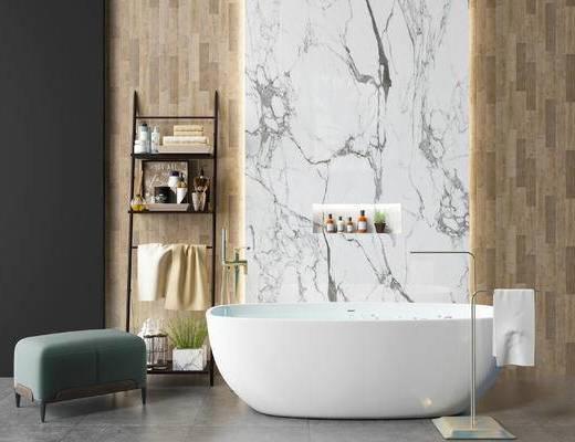 现代, 卫浴组合, 摆件组合, 单椅组合