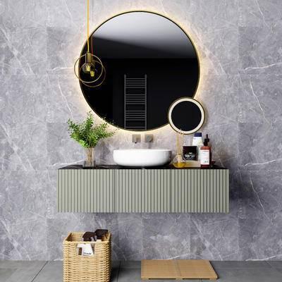 现代, 摆件组合, 洗手台组合