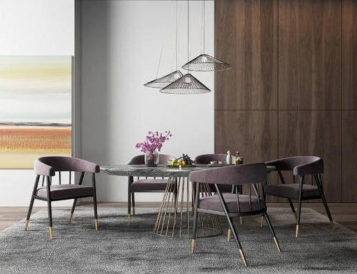 現代餐桌椅, 餐桌椅, 桌椅組合