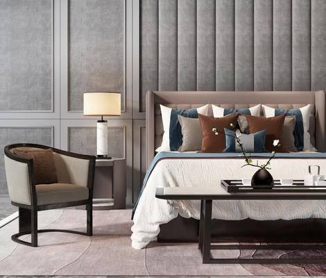 新中式卧室, 卧室