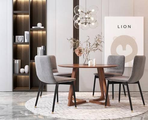 北欧餐桌椅组合, 桌椅组合, 餐桌椅组合
