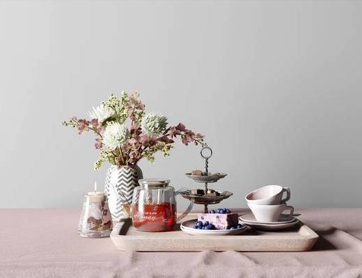 欧式餐具组合, 餐具组合, 餐具, 餐具花瓶组合