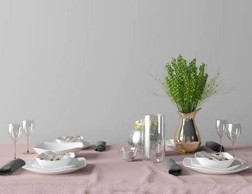 现代简约餐具组合, 现代餐具组合, 简约餐具组合, 餐具组合, 餐具