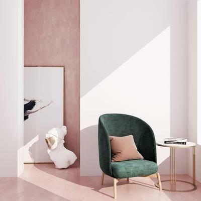 现代单人沙发, 单人沙发, 北欧单人沙发