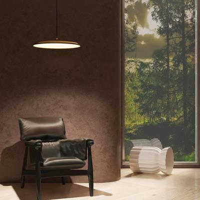 现代单人沙发, 单人沙发, 工业风单人沙发