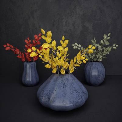 现代花瓶, 花瓶花卉