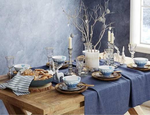 东南亚餐具, 餐具, 摆件组合