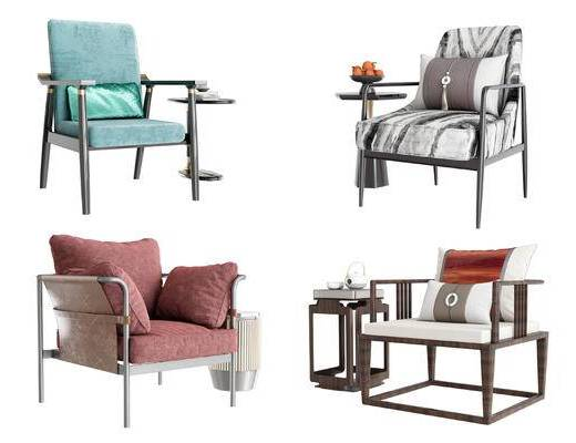 新中式, 桌椅组合, 边几组合, 单椅