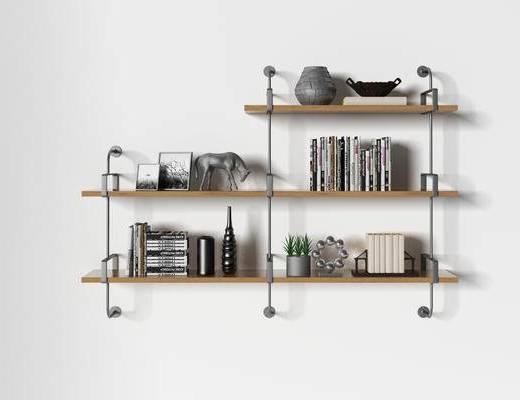 北欧书架, 书架, 装饰柜架