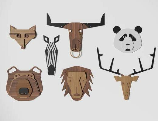 现代墙饰, 墙饰, 动物墙饰