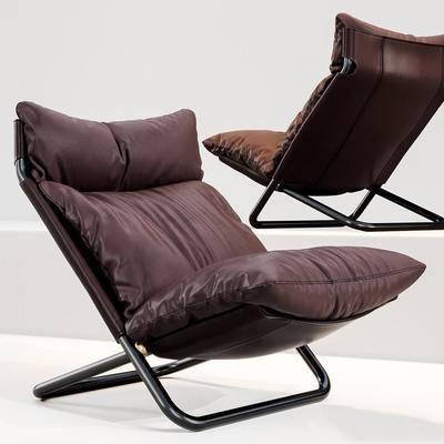 现代休闲椅, 单椅, 休闲椅, 现代单椅