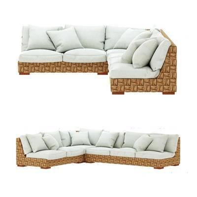 美式沙发, 转角沙发, 多人沙发