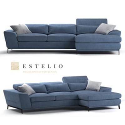 现代沙发, 多人沙发, 沙发, 转角沙发