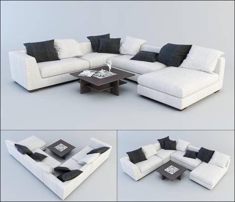 现代沙发, 多人沙发, 转角沙发, 沙发组合, 沙发