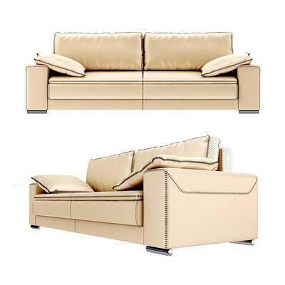现代沙发, 皮质沙发, 沙发, 双人沙发