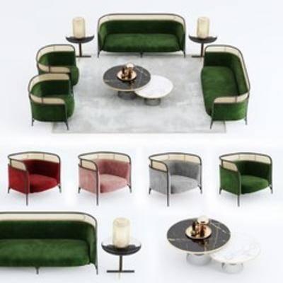 现代沙发, 沙发组合, 多人沙发, 沙发