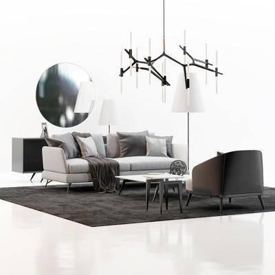 现代沙发, 沙发组合, 双人沙发, 沙发