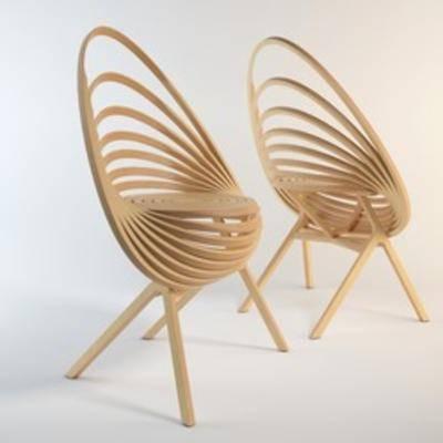 现代木椅, 现代休闲椅, 木椅, 休闲椅, 椅子