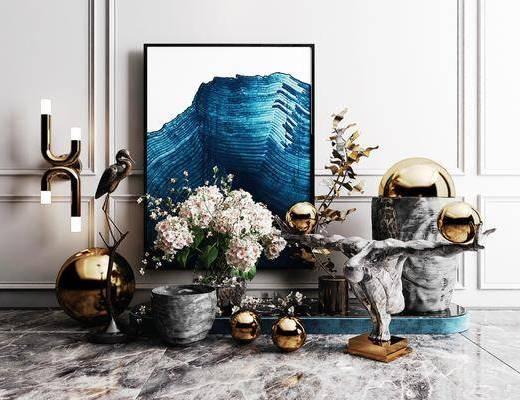装饰品, 摆件组合, 装饰画