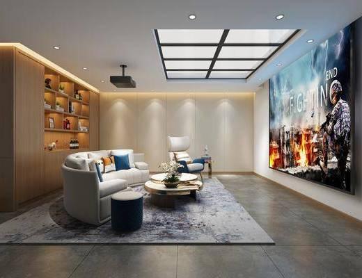 现代影音室, 影音室, 沙发组合