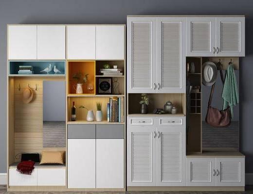 现代置物柜, 置物柜, 装饰柜架