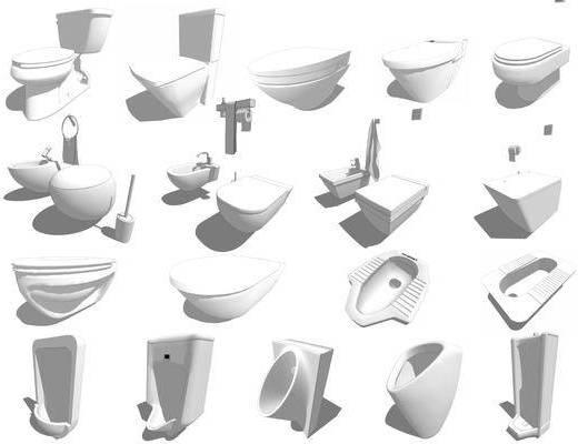 卫浴组合, 马桶, 洗手盆