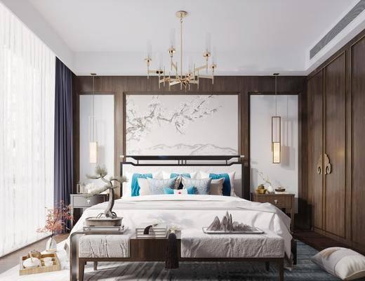 �p人床, 壁��, 吊��, 背景��, 床尾踏, 衣��