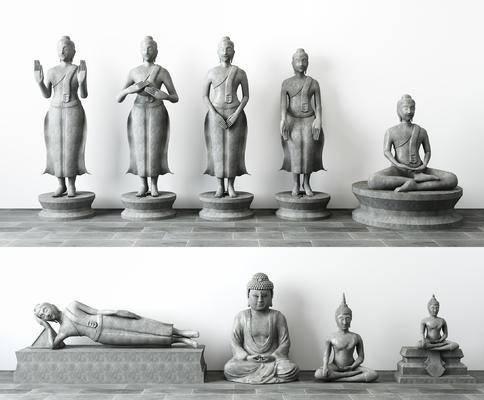 佛像雕塑, 如来佛, 雕塑