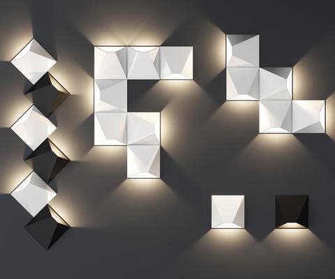 现代, 壁灯, 灯具