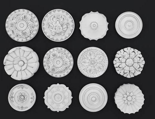 雕花, 灯盘, 欧式灯盘, 欧式