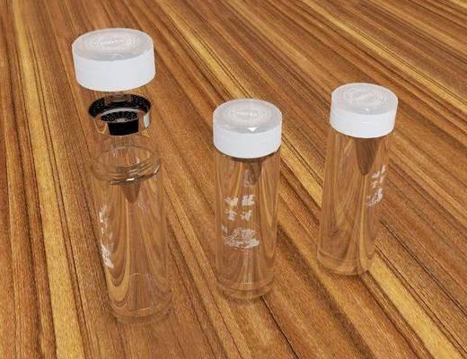 现代, 玻璃瓶, 摆件