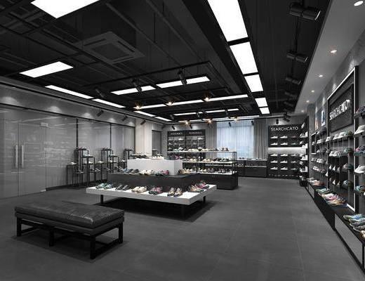 现代, 鞋店, 鞋柜, 展柜