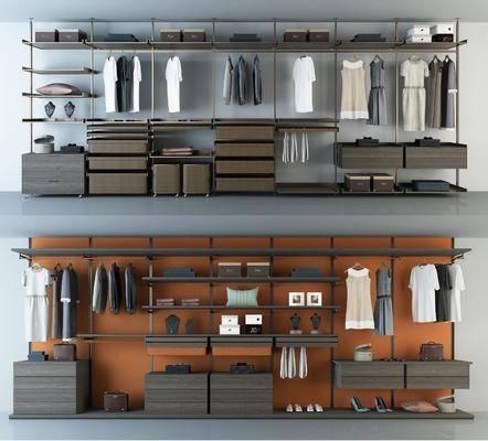 衣柜, 现代衣柜, 衣服, 鞋帽, 置物架, 摆件, 手提包, 衣架, 现代, 双十一