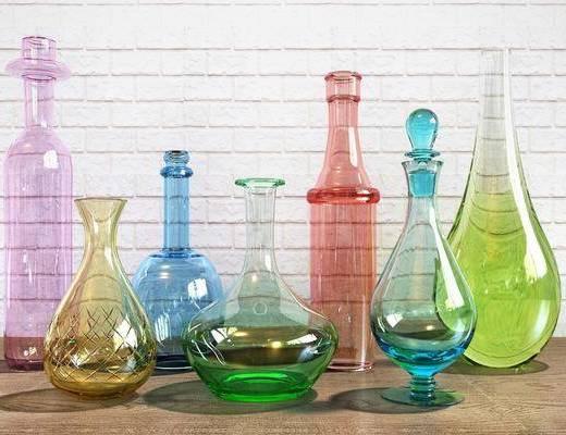 玻璃瓶, 器皿, 装饰摆件, 现代
