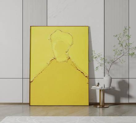 现代客餐厅玄关挂画