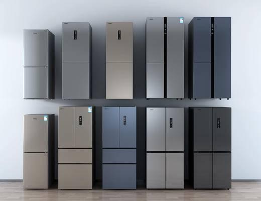 现代智能单开门双开门冰箱