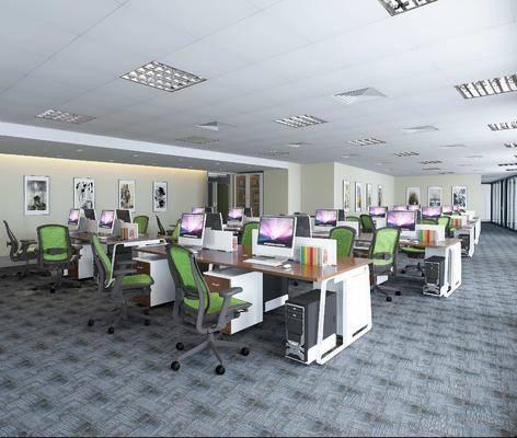 辦公區, 辦公椅, 辦公桌, 組合畫, 現代