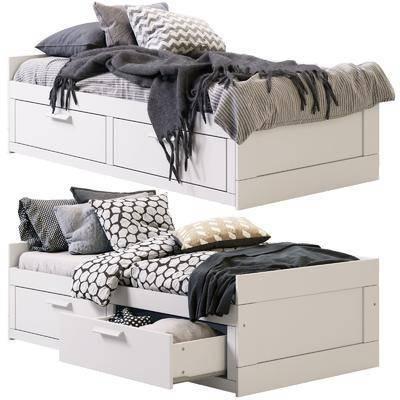榻榻米, 儿童床, 北欧, 抱枕