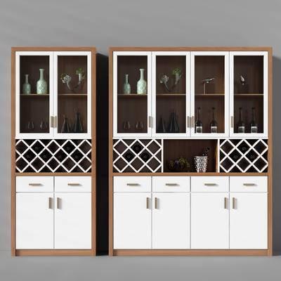 酒柜, 现代酒柜, 酒瓶, 装饰柜, 置物柜