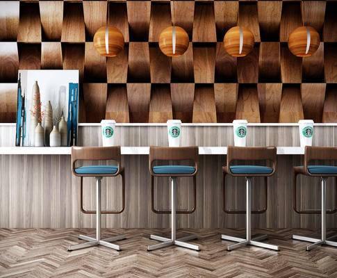 现代吧椅, 马克杯, 吧台吊灯, 现代