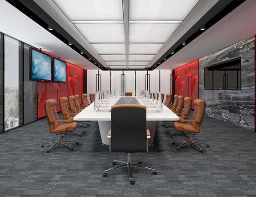 会议室, 会议桌椅, 现代