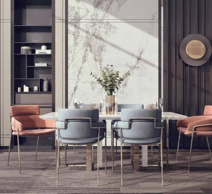 餐桌, 桌椅组合, 桌花, 墙饰