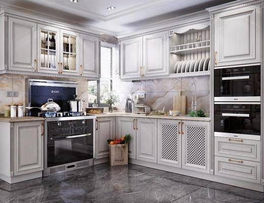 简欧厨房, 厨房, 橱柜