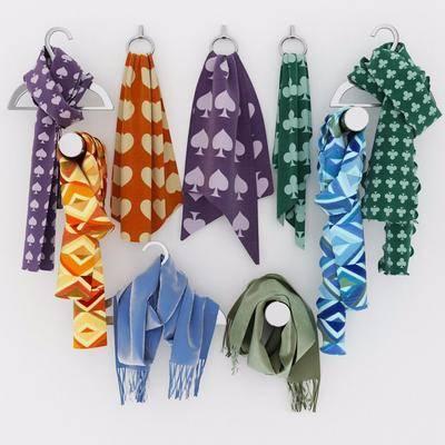 现代围巾, 围巾, 衣架, 现代