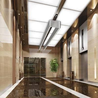 走廊, 过道, 现代, 电梯间